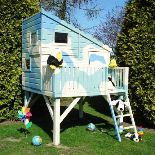 Army Style Wooden Kids Playhouse